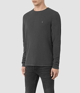 Men's Clash Long Sleeve T-Shirt (IRON BLUE) - product_image_alt_text_3