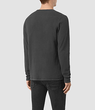 Men's Clash Long Sleeve T-Shirt (IRON BLUE) - product_image_alt_text_4