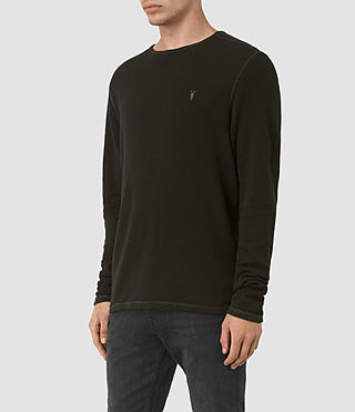 Men's Clash Long Sleeve Crew T-Shirt (LICHEN GREEN) - product_image_alt_text_3