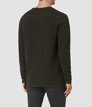 Hommes Clash Long Sleeve Crew T-Shirt (LICHEN GREEN) - product_image_alt_text_4
