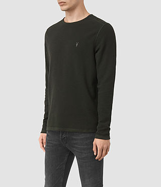 Uomo Clash Long Sleeved Crew T-Shirt (Shadow Green) - product_image_alt_text_2