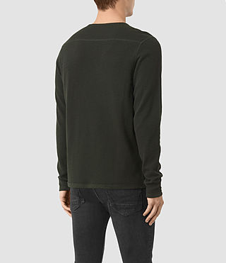 Uomo Clash Long Sleeved Crew T-Shirt (Shadow Green) - product_image_alt_text_3