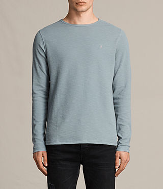 Hommes Clash Long Sleeve Crew T-Shirt (VISTA BLUE) -