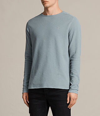 Uomo Clash Long Sleeve Crew T-Shirt (VISTA BLUE) - product_image_alt_text_3