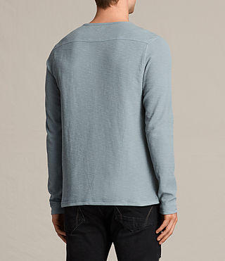 Uomo Clash Long Sleeve Crew T-Shirt (VISTA BLUE) - product_image_alt_text_4