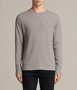 Men's Clash Long Sleeve Crew T-Shirt (CONCRETE GREY) - product_image_alt_text_1