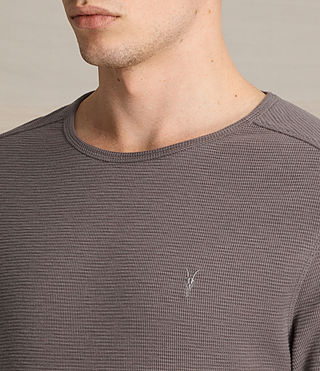 Mens Clash Long Sleeve Crew T-Shirt (KHAKI TAUPE) - product_image_alt_text_2