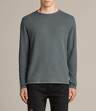 Men's Clash Long Sleeved Crew T-Shirt (FLINT GREEN) - product_image_alt_text_1