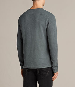 Men's Clash Long Sleeved Crew T-Shirt (FLINT GREEN) - Image 4
