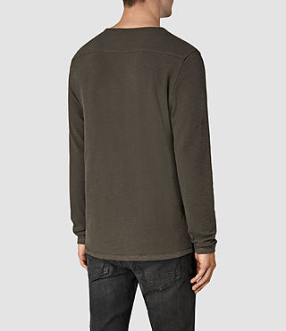 Mens Clash Long Sleeve Crew T-Shirt (Pewter) - product_image_alt_text_3