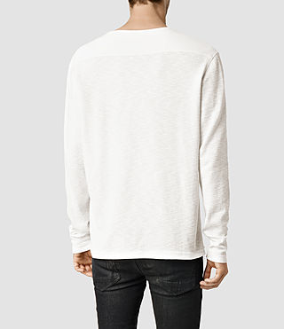 Mens Clash Long Sleeve Crew T-Shirt (Chalk) - product_image_alt_text_3
