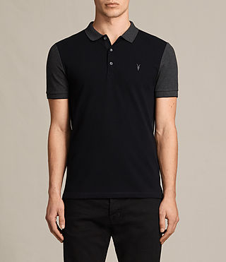Hombres Wentworth Polo Shirt (INK NAVY/CHARCOAL)