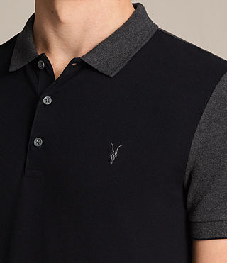 Hombre Wentworth Polo Shirt (INK NAVY/CHARCOAL) - product_image_alt_text_2