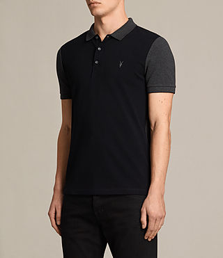 Hombre Wentworth Polo Shirt (INK NAVY/CHARCOAL) - product_image_alt_text_3