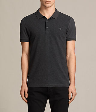 Hommes Polo Wentworth (Charcoal Marl/ Blk) -