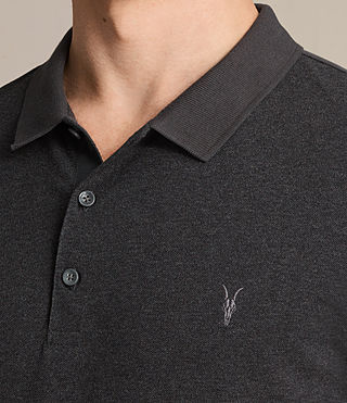 Hommes Polo Wentworth (Charcoal Marl/ Blk) - product_image_alt_text_2