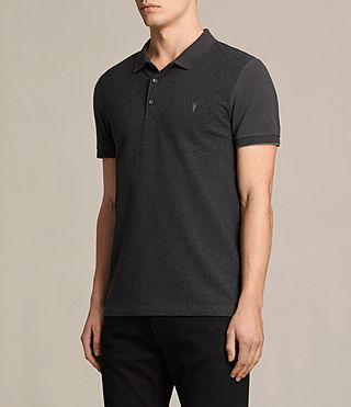 Hommes Polo Wentworth (Charcoal Marl/ Blk) - product_image_alt_text_3
