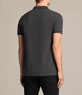 Hommes Polo Wentworth (Charcoal Marl/ Blk) - product_image_alt_text_4