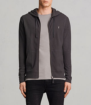 Hommes Sweat à capuche Clash (Washed Black)