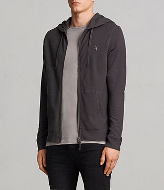 Men's Clash Hoody (Washed Black) - product_image_alt_text_3