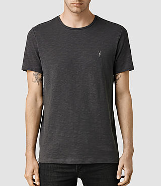 Hombres Soul Crew T-Shirt (Washed Black)