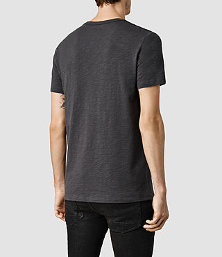 Mens Soul Crew T-Shirt (Washed Black) - product_image_alt_text_3
