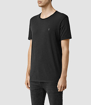 Mens Henning Crew T-shirt (Vintage Black) - product_image_alt_text_2