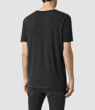Mens Henning Crew T-shirt (Vintage Black) - product_image_alt_text_3