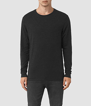 Mens Aurora Long Sleeve Crew T-Shirt (Cinder Marl)