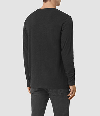 Mens Aurora Long Sleeve Crew T-Shirt (Cinder Marl) - product_image_alt_text_3