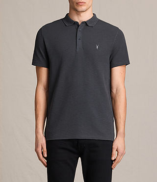 Mens Clash Polo Shirt (Washed Black) - Image 1