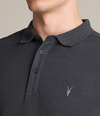 Mens Clash Polo Shirt (Washed Black) - Image 2