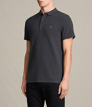 Mens Clash Polo Shirt (Washed Black) - Image 3