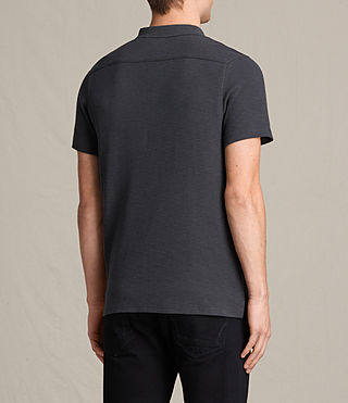 Mens Clash Polo Shirt (Washed Black) - Image 4