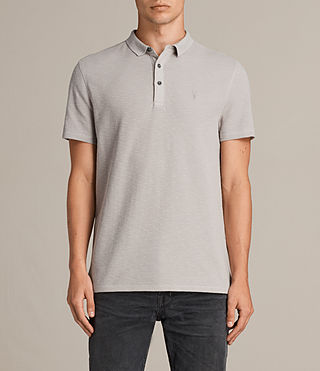 Uomo Clash Polo Shirt (Pebble Grey) -