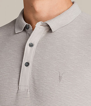 Mens Clash Polo Shirt (Pebble Grey) - Image 2