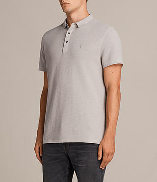Mens Clash Polo Shirt (Pebble Grey) - Image 3