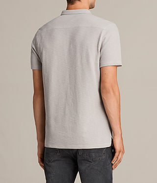 Mens Clash Polo Shirt (Pebble Grey) - Image 4