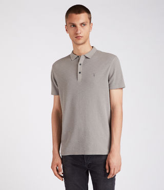 Herren Clash Polo Shirt (Putty Brown)