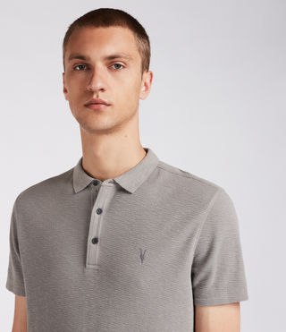 Hommes Clash Polo Shirt (Putty Brown) - product_image_alt_text_2