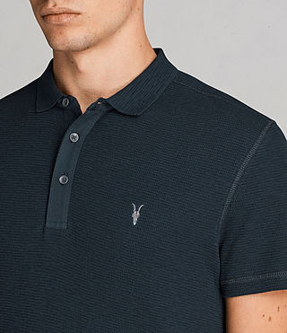 Men's Clash Polo Shirt (OIL BLUE) - Image 2