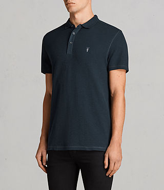Men's Clash Polo Shirt (OIL BLUE) - Image 3