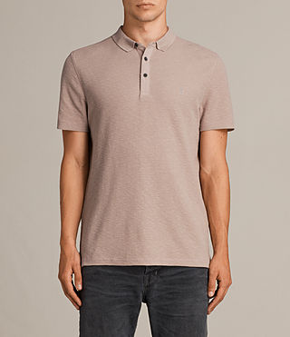 Mens Clash Polo Shirt (MUSHROOM PINK) - product_image_alt_text_1
