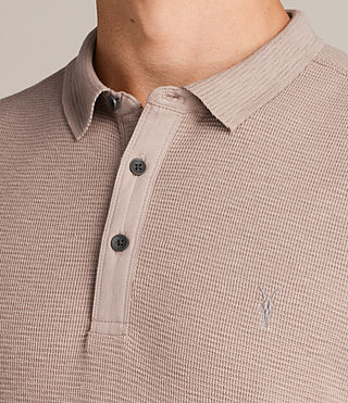 Men's Clash Polo Shirt (MUSHROOM PINK) - Image 2