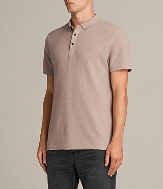 Mens Clash Polo Shirt (MUSHROOM PINK) - product_image_alt_text_3