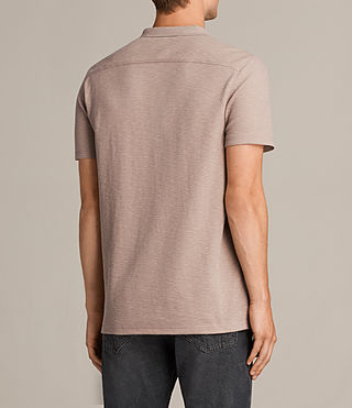 Men's Clash Polo Shirt (MUSHROOM PINK) - Image 4