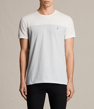 Mens Breton Tonic Crew T-Shirt (CHALK WHITE/BLUE) - product_image_alt_text_1