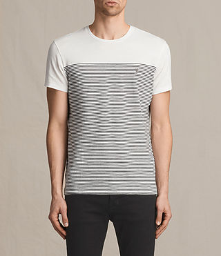Hombres Breton Tonic Crew T-Shirt (CHALK WHITE/INK)