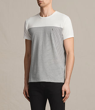 Herren Breton Tonic Crew T-Shirt (CHALK WHITE/INK) - product_image_alt_text_3