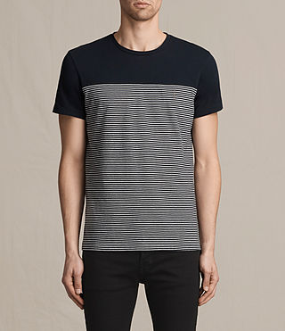 Mens Breton Tonic Crew T-Shirt (INK NAVY/CHALK) - product_image_alt_text_1